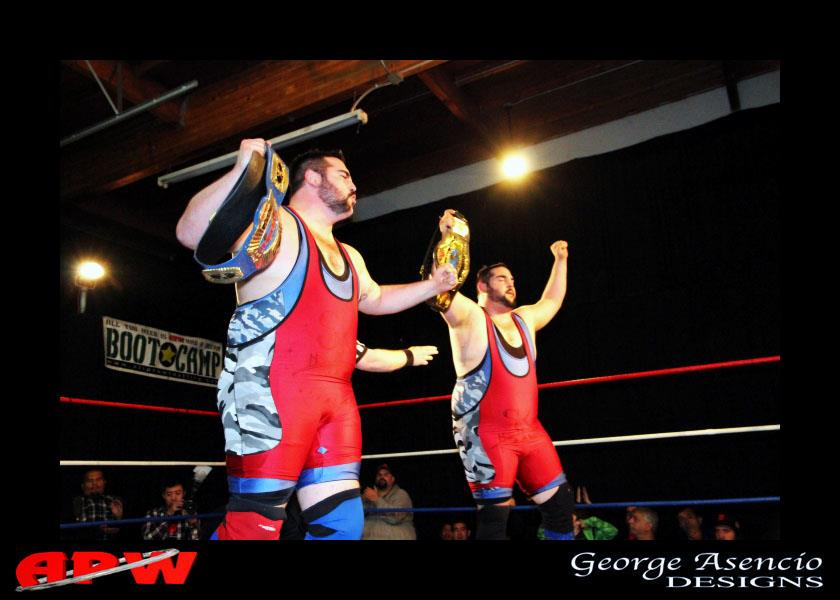 Suburban Commandos become Tag Champs!