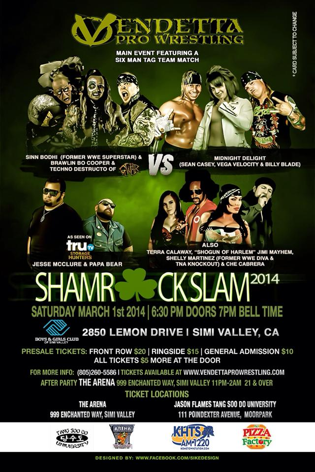 Shamrock Slam 2014 event flyer