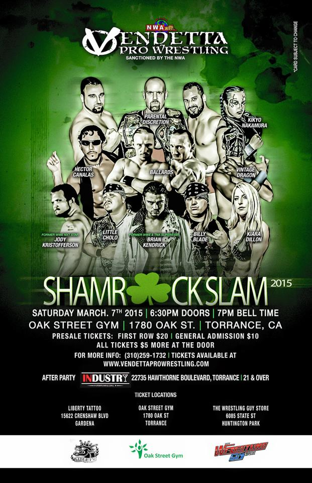 Shamrock Slam Tour 2015 event flyer
