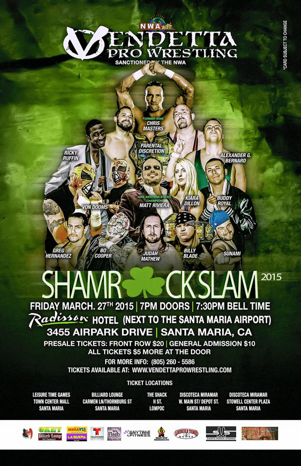 Shamrock Slam 2015 event flyer