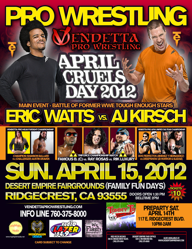 April Cruels Day 2012 English event flyer