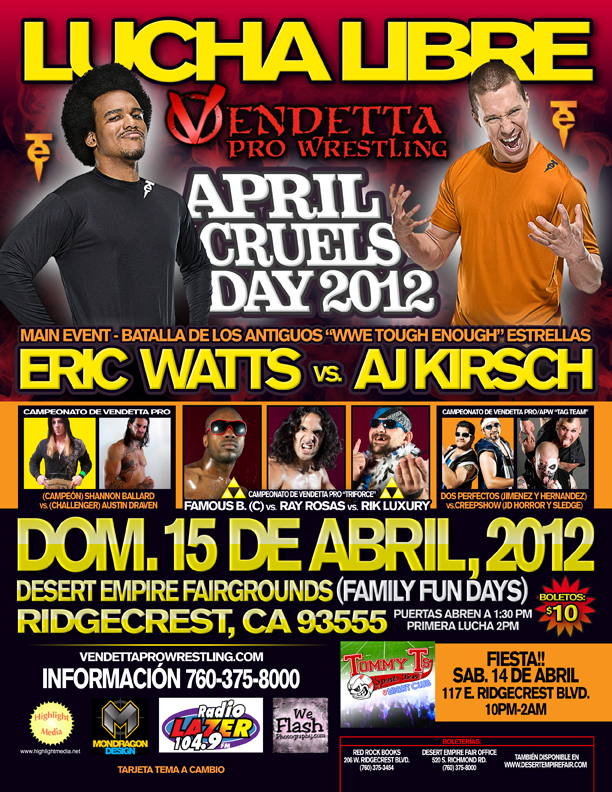 April Cruels Day 2012 Spanish event flyer