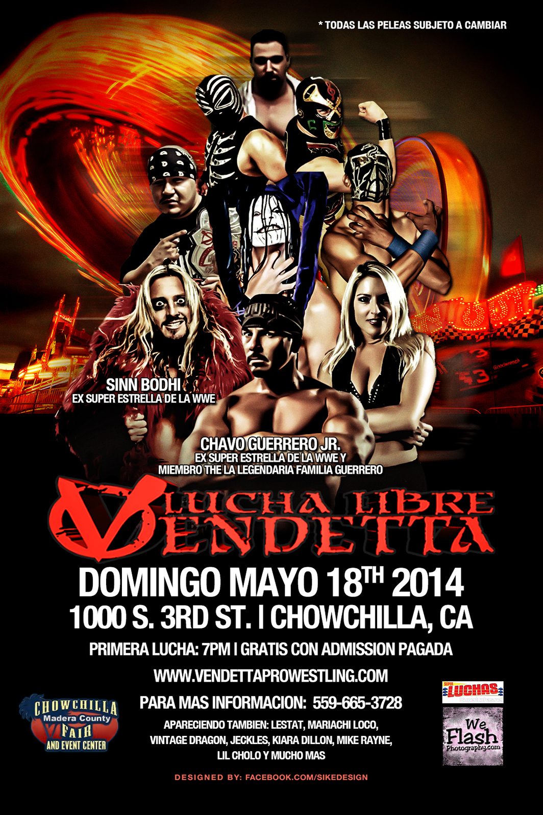 Chowchilla-Madera County Fair 2014 Spanish event flyer