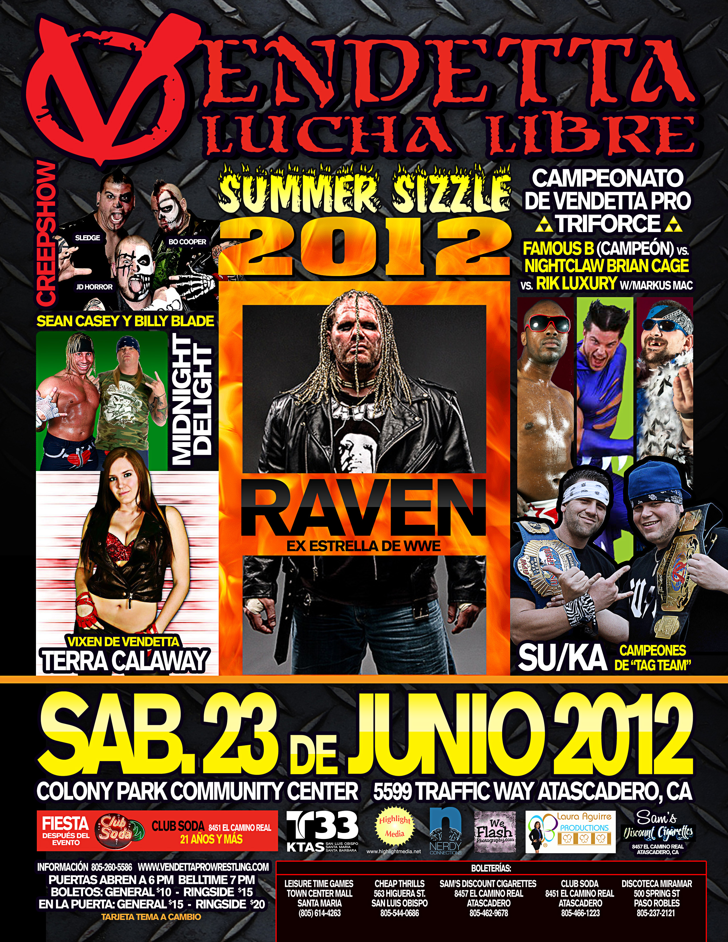 Summer Sizzle 2012 Spanish event flyer
