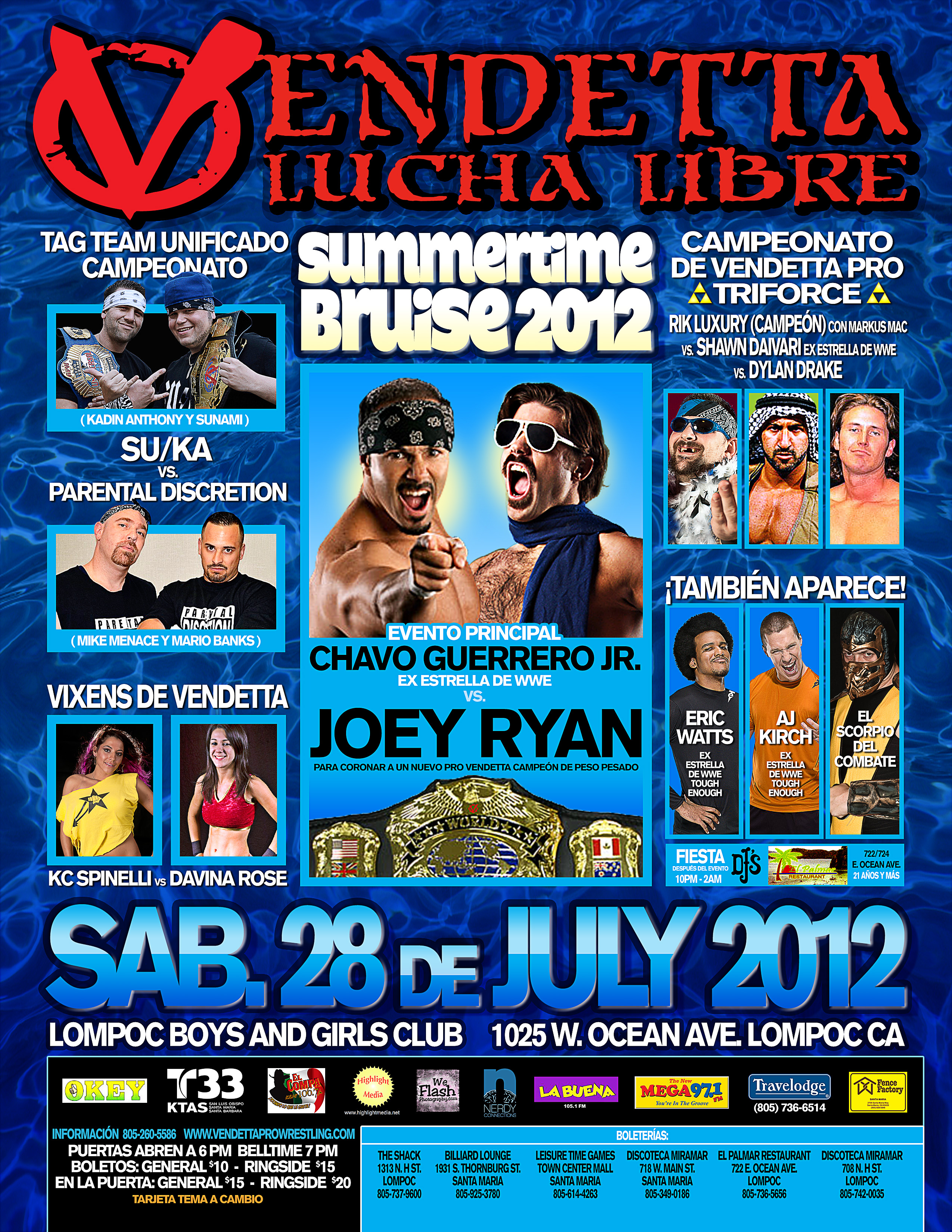 Summertime Bruise 2012 Spanish event flyer