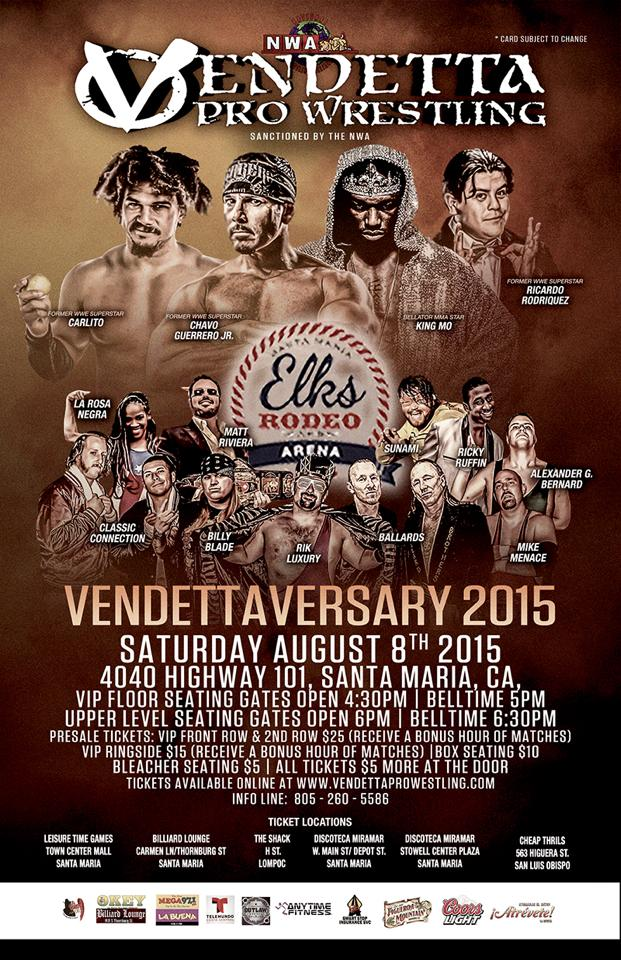Vendettaversary 2015 event flyer