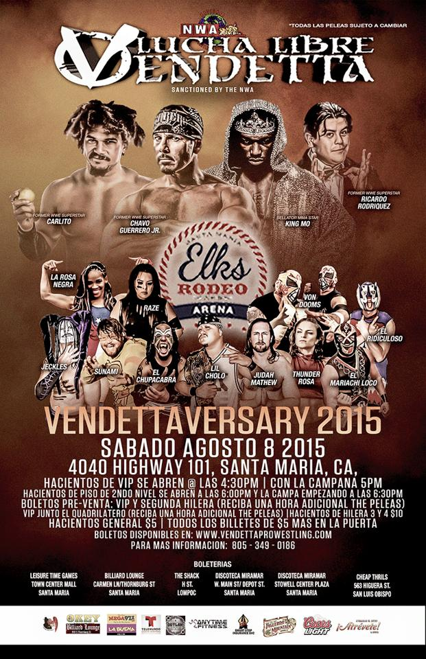 Vendettaversary 2015 event Spanish flyer