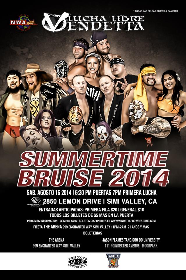 Summertime Bruise 2014 English event flyer