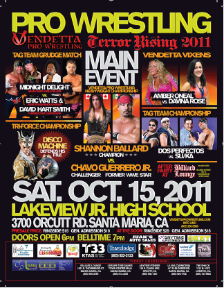 Terror Rising 2011 event flyer