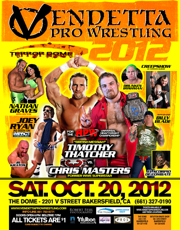 Terror Dome 2012 event flyer