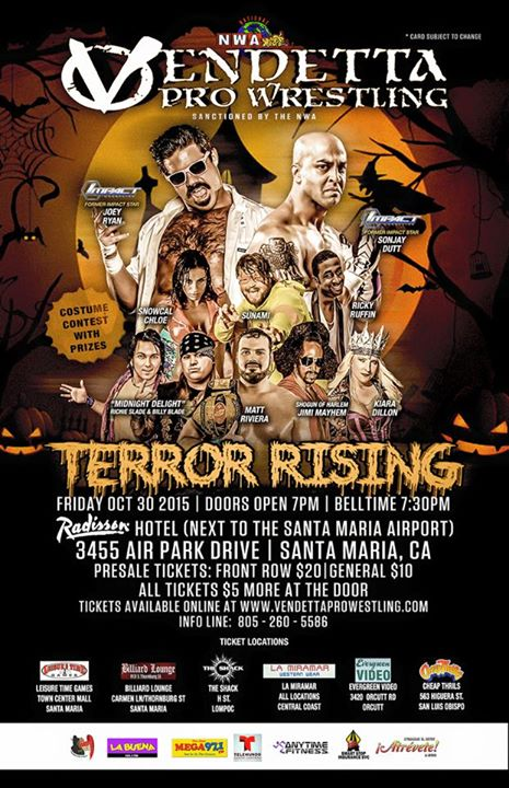 Terror Rising 2015 event flyer