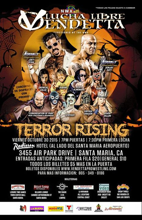 Terror Rising 2015 event Spanish flyer
