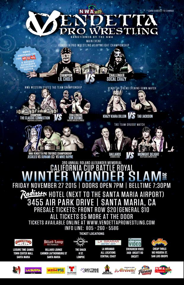 Winter Wonder Slam 2015 event flyer