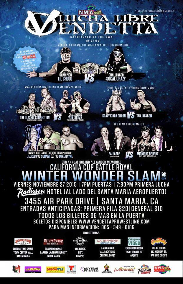 Winter Wonder Slam 2015 event Spanish flyer
