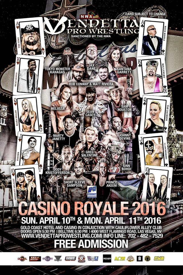 Casino Royale 2015 English event flyer