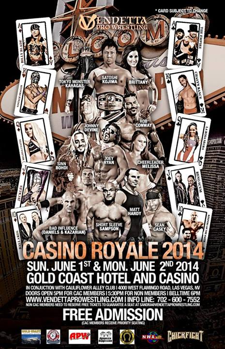 Casino Royale 2014 English event flyer