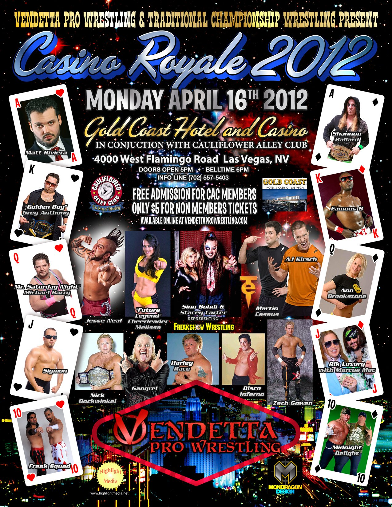 Casino Royale 2012 event flyer