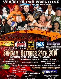 Terror Dome 2010 event flyer