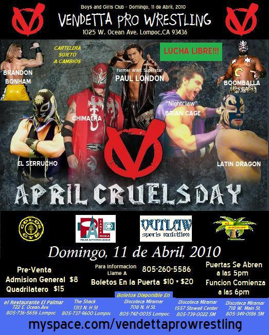 April Cruels Day 2010 Spanish event flyer