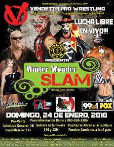 Winter Wonder Slam Jan 2010 Spanish event flyer