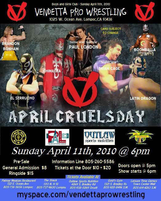 April Cruels Day 2010 event flyer